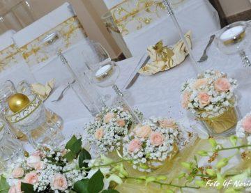 Láska prechádza cez žalúdok a to platí v deň svadby dvojnásobne. Vyberte si z našich svadobných balíčkov. Ak túžite po niečom  špeciálnom, šéfkuchár Vám rád zostaví  menu presne podľa Vašich požiadaviek tak, aby ste si Vy a Vaši hostia tento vzácny deň doslova vychutnali.